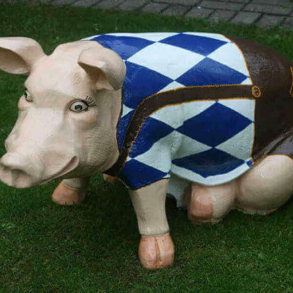 Bayern Deko Schwein