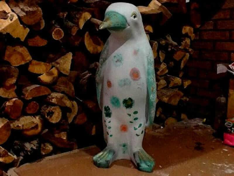 Kunst Pinguin 70 cm