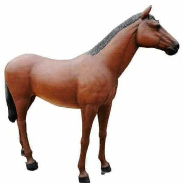 Deko Pferd hellbraun