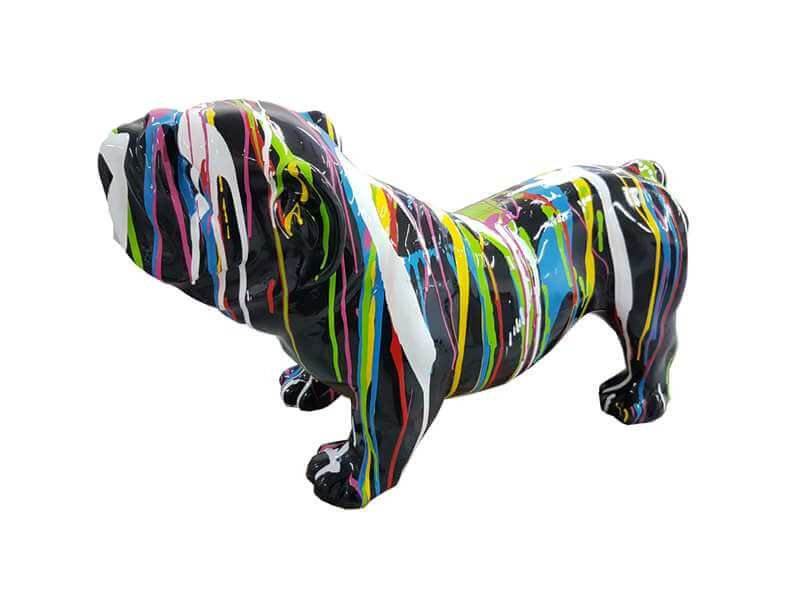 Kleine Bulldogge kreativ schwarz