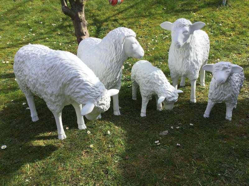 Malauftrag Deko Schafe nach Ihren Farbwünschen